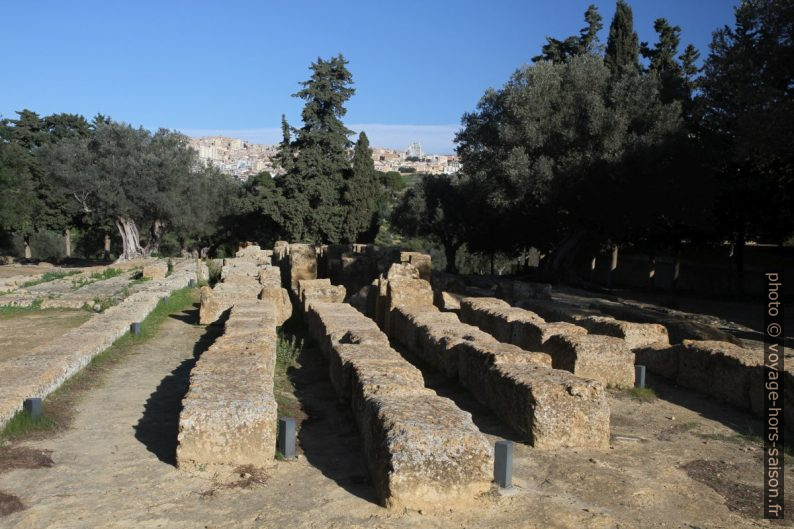 Vestiges de l'autel du Temple de Zeus Olympien. Photo © Alex Medwedeff