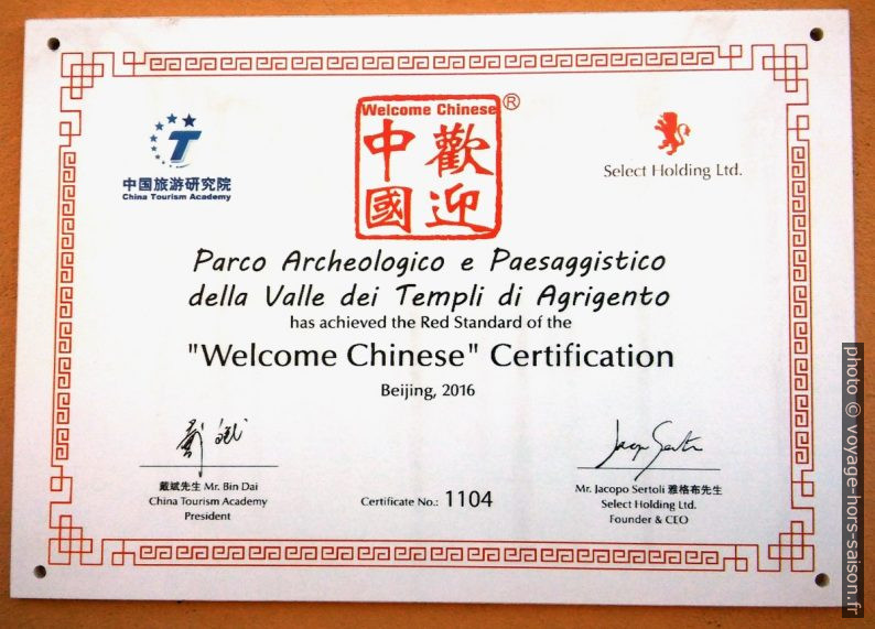 Welcome Chinese Certification. Photo © André M. Winter