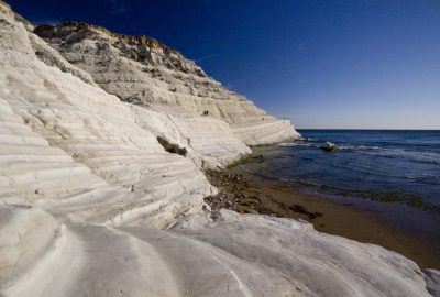 Face ouest de la Scala dei Turchi. Photo © André M. Winter
