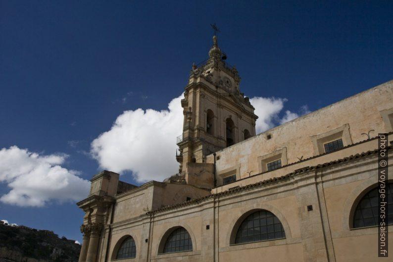 Face arrière du clocher-mur de la cathédrale San Giorgio de Modica. Photo © Alex Medwedeff
