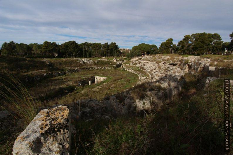 Parties souterraines de l'amphithéâtre romain de Syracuse. Photo © André M. Winter