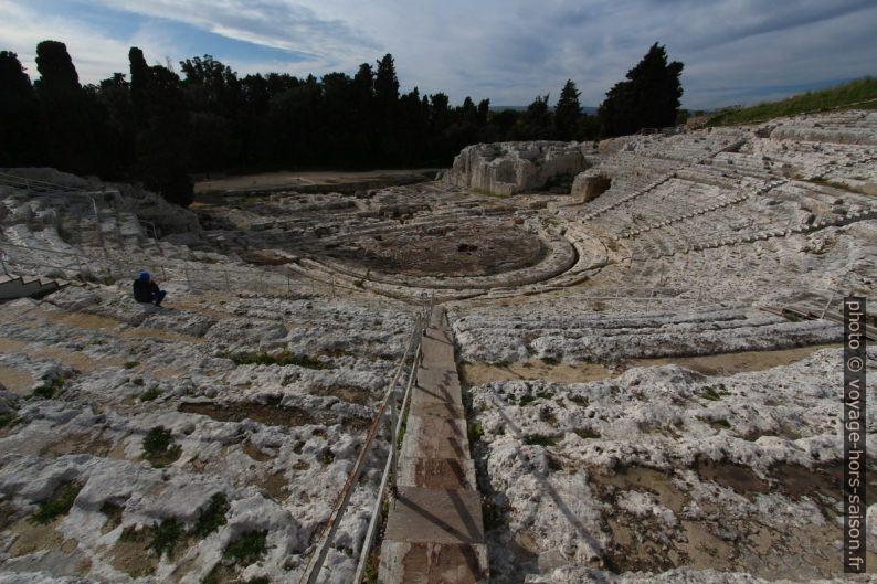 Cavea du théâtre grec de Syracuse. Photo © André M. Winter