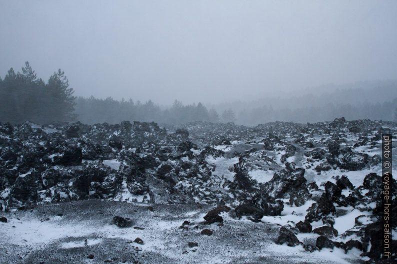 Lave de 2002 au nord-est de l'Etna. Photo © Alex Medwedeff