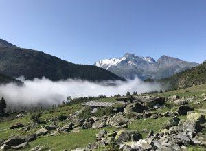 Hameau Pierre Giret et le Mont Pourri. Photo © Alex Medwedeff