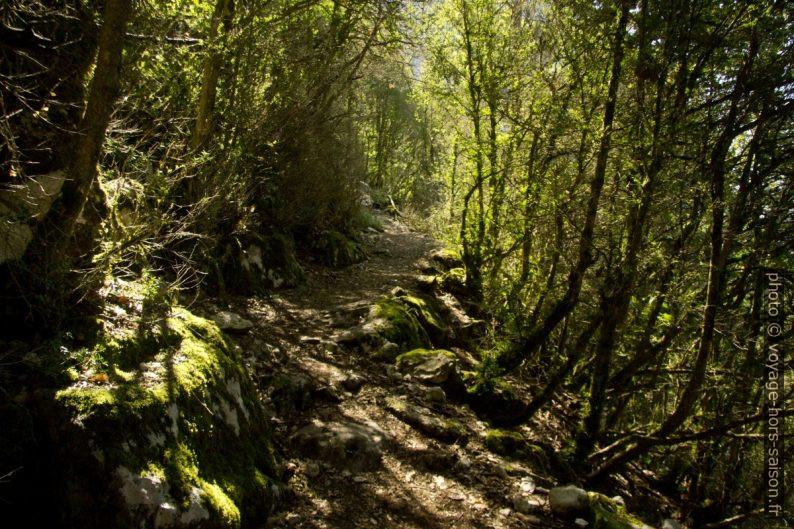 Le chemin sous le Pas des Voûtes. Photo © André M. Winter