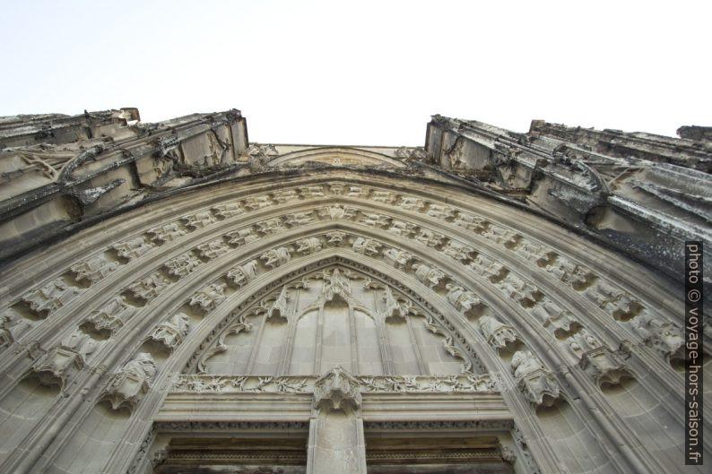 Détail de la façade occidentale de l'abbatiale de St. Antoine. Photo © André M. Winter