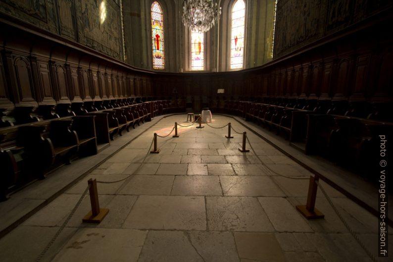 Chaires du chœur de l'abbatiale de St. Antoine. Photo © André M. Winter