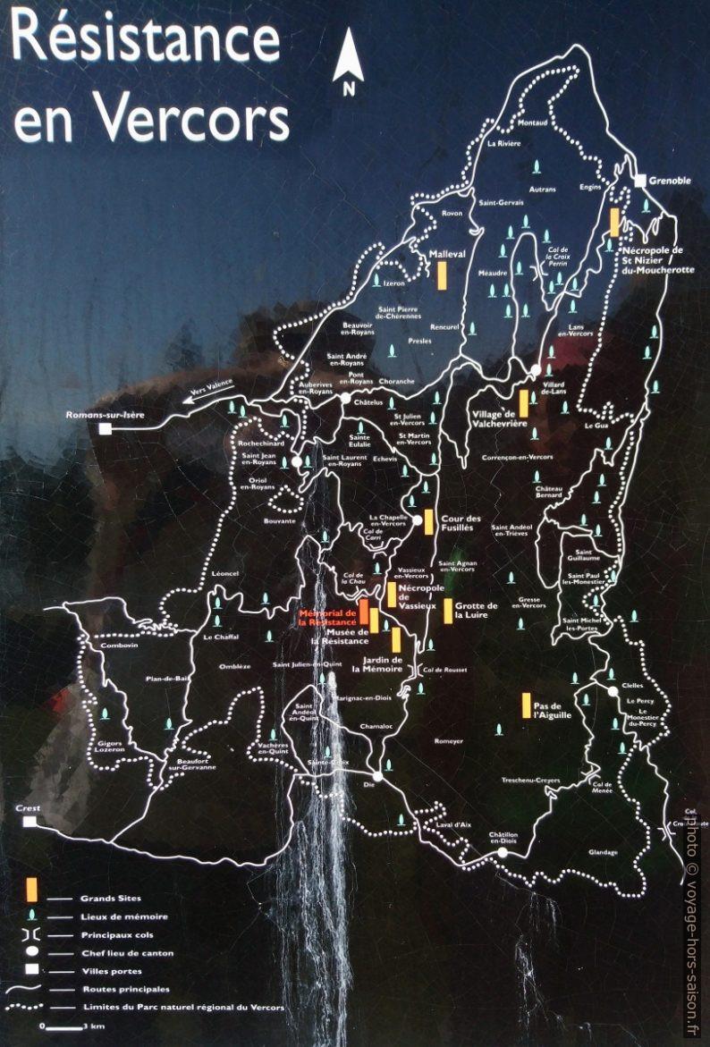 Carte sur la Résistance en Vercos. Photo © André M. Winter