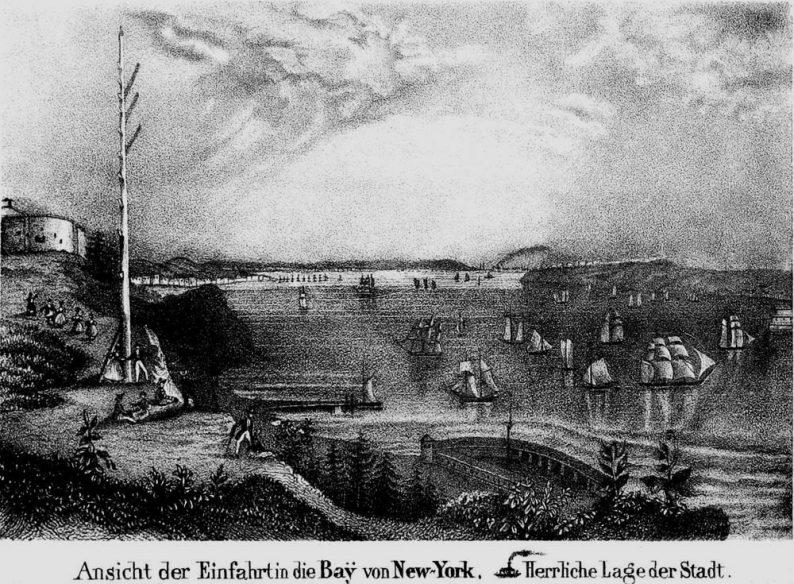 Baie de New York en 1839