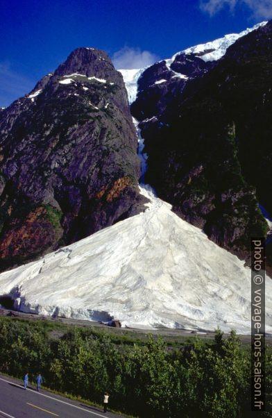Cône d'avalanche à la sortie d'un canyon. Photo © André M. Winter