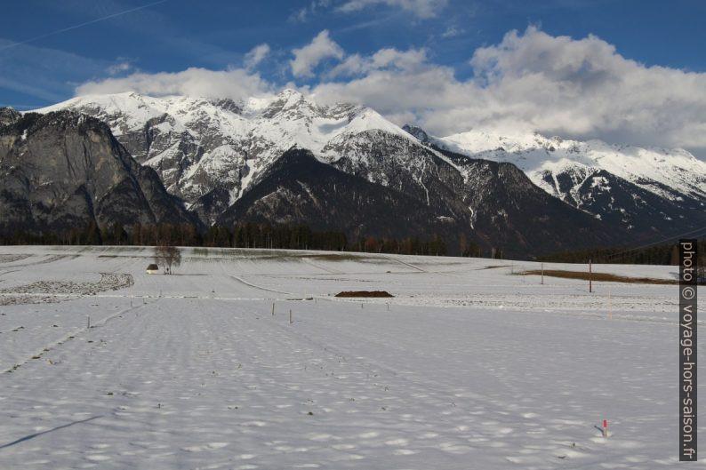 Neige en janvier à Götzens. Photo © André M. Winter