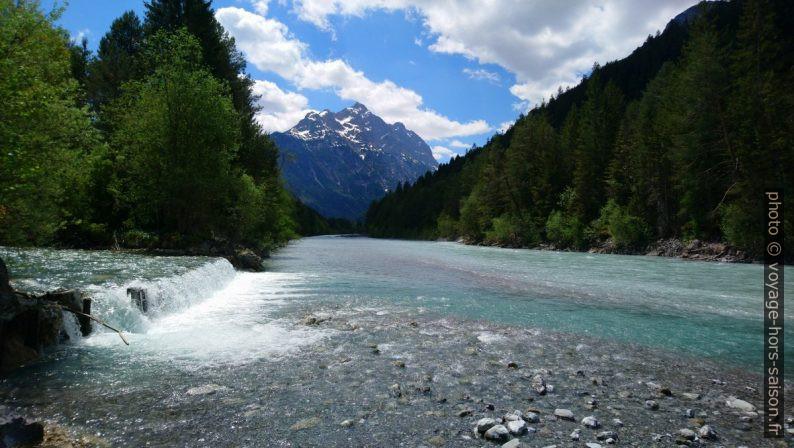 Rivière Lech et l'embouchure du Namloserbach. Photo © André M. Winter