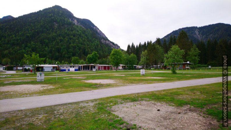 Le Camping Plansee vide à cause du corona virus. Photo © André M. Winter