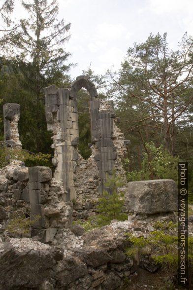 Chapelle de la ruine Sigmundsburg sur l'île du la Fernsteinsee. Photo © Alex Medwedeff