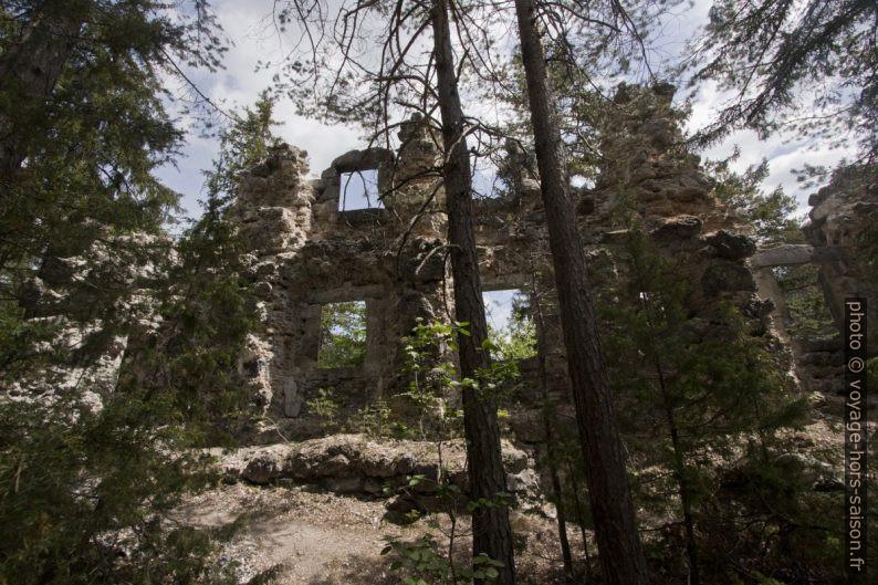 Ruine Sigmundsburg sur l'île du la Fernsteinsee. Photo © André M. Winter