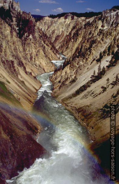 Le Yellowstone River vue par-dessus le Lower Fall. Photo © André M. Winter