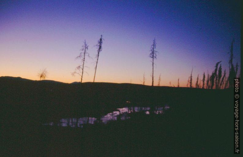 Le soir au bord du Gibbon River. Photo © André M. Winter