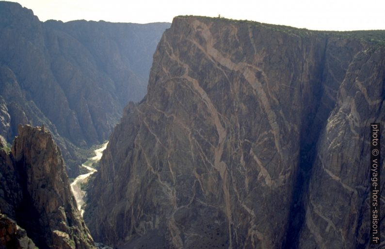 Painted Wall du Black Canyon of the Gunnison. Photo © André M. Winter