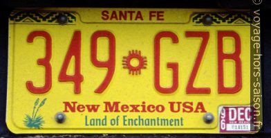 Plaque du New Mexico. Photo © André M. Winter