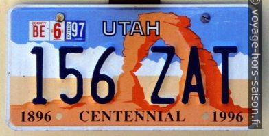 Plaque de l'Utah Arches National Park Centennial. Photo © André M. Winter