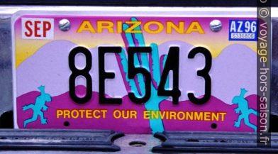 Plaque de l'Arizona. Photo © André M. Winter