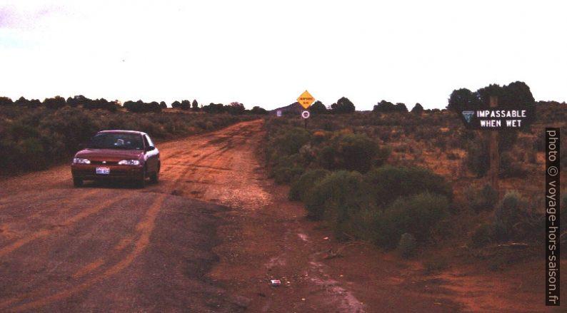 Cotton Wood Canyon dirt road près de Cannonville. Photo © André M. Winter