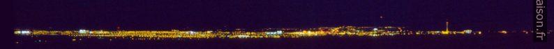 Vue sur Las Vegas du Toiyabe National Forest de nuit. Photo © André M. Winter