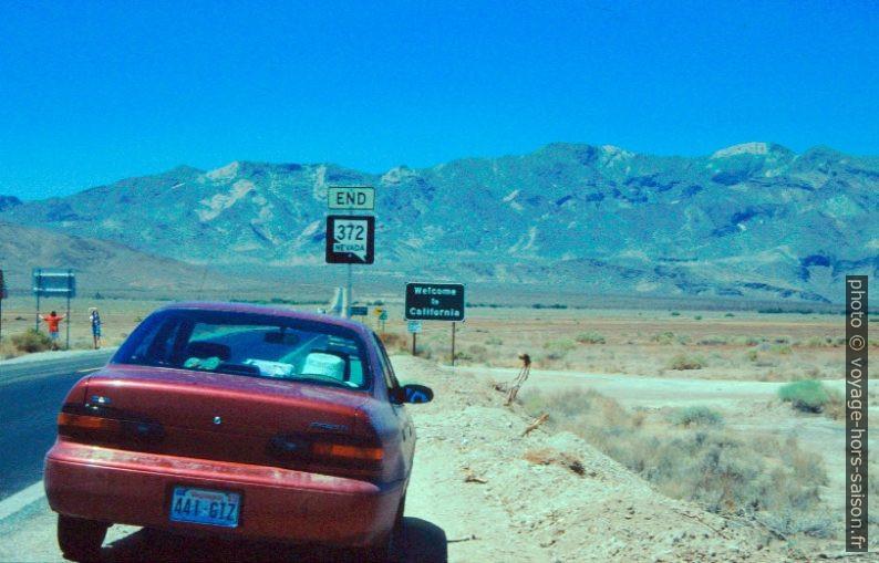 Frontière entre le Nevada et la Californie. Photo © André M. Winter