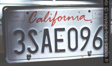 Plaque de Californie. Photo © André M. Winter