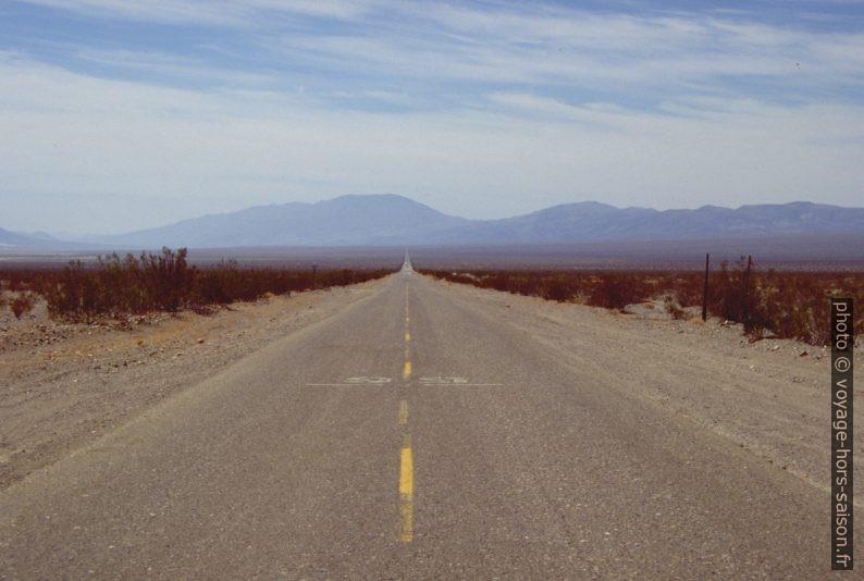 Route dans le Panamint Valley. Photo © André M. Winter