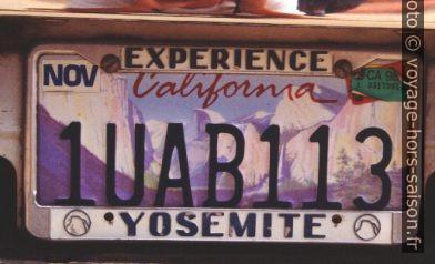 Plaque de California avec le Yosemite Park. Photo © André M. Winter