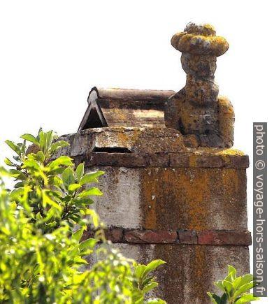 La figure du turc de Purbach sur la cheminée. Photo CCSA4 Wikimédia Loimo