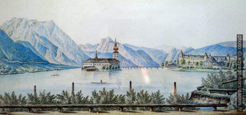 Les châteaux d'Ort peints en 1865 par Carl Ritter. Photo © André M. Winter