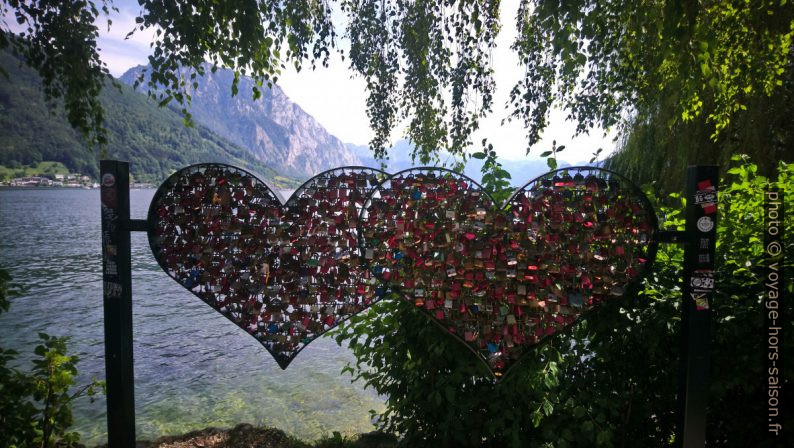 Cadenas d'amour au bord du Traunsee. Photo © André M. Winter