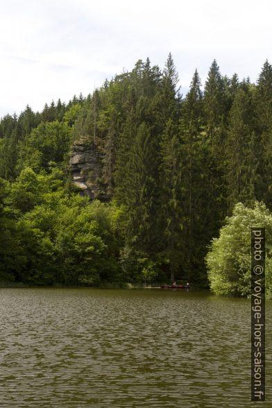 Les rivages sauvages du lac Ottensteiner Stausee. Photo © Alex Medwedeff
