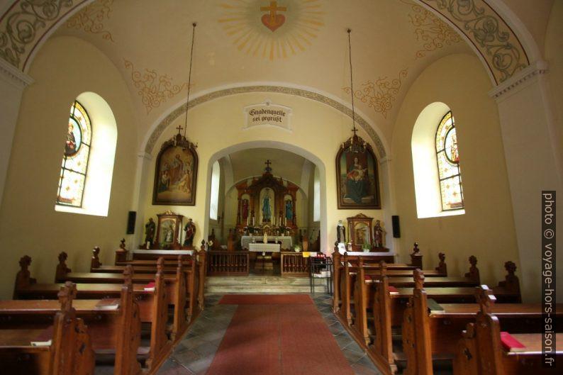 Nef de l'église Bründlkirche à Zwettl. Photo © André M. Winter