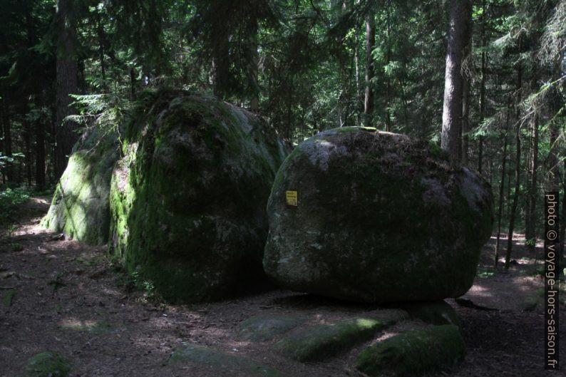Pierres branlantes en forêt à Gmünd. Photo © Alex Medwedeff