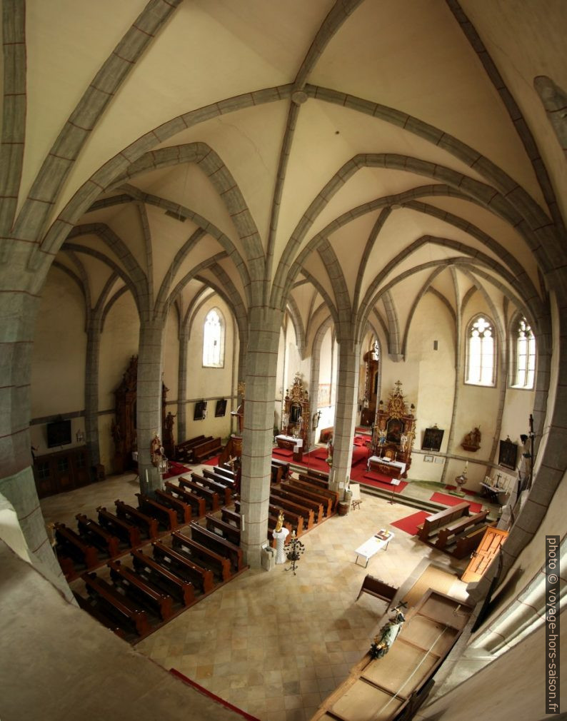 Nef de l'église-halle St. Wolfgang bei Weitra. Photo © André M. Winter