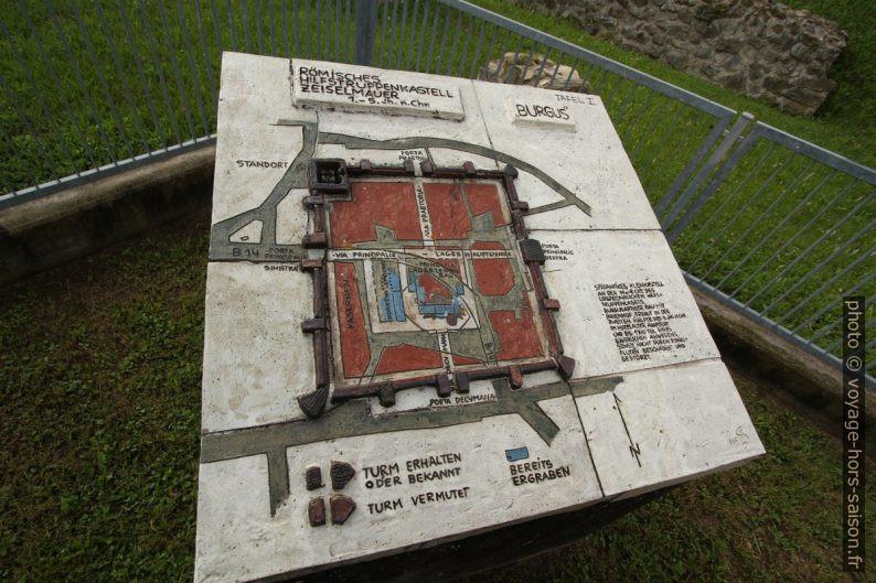 Modèle du fort romain tardif de Cannabiaca. Photo © André M. Winter
