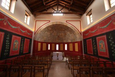 La salle principale de la Villa Urbana avec abside. Photo © André M. Winter
