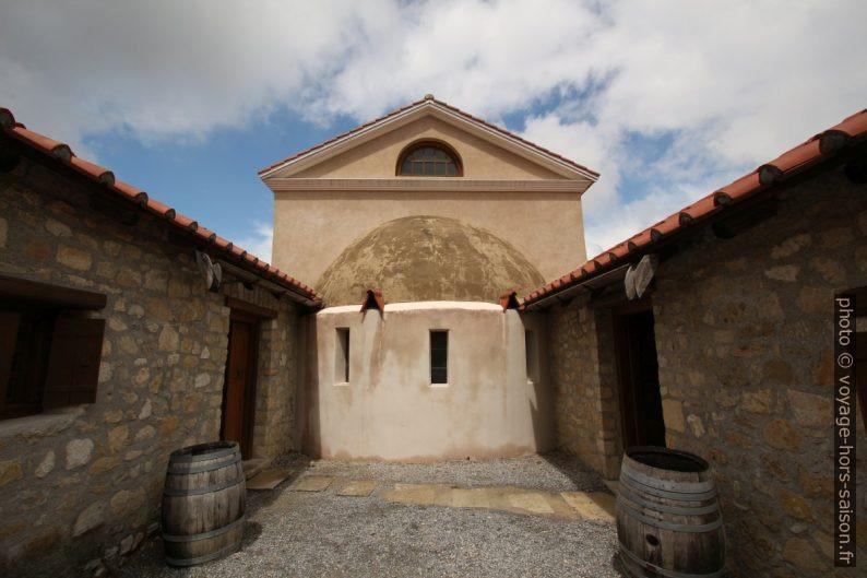 Partie extérieure de l'abside de la salle principale de la Villa Urbana à Carnuntum. Photo © André M. Winter