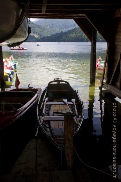 Bateaux à rames au lac Lunzer See. Photo © Alex Medwedeff