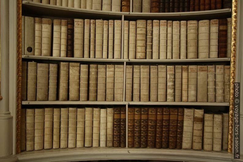 Livres sans doute obsolètes de la bibliothèque d'Admont. Photo © André M. Winter