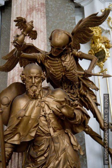 """Figure """"la mort"""" de 1760 dans la bibliothèque d'Admont. Photo © Alex Medwedeff"""
