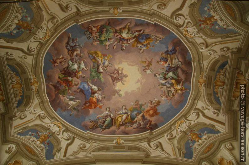Une des fresques du plafond de bibliothèque baroque d'Admont. Photo © André M. Winter