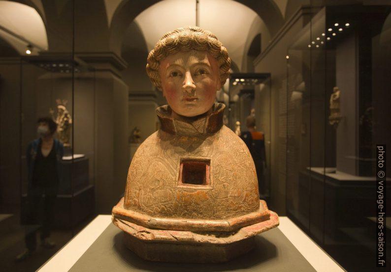 Buste reliquaire du 15e siècle. Photo © André M. Winter