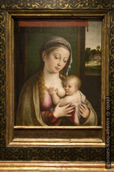 Vierge du lait par Luca Longhi de Ravena, 16e siecle. Photo © André M. Winter
