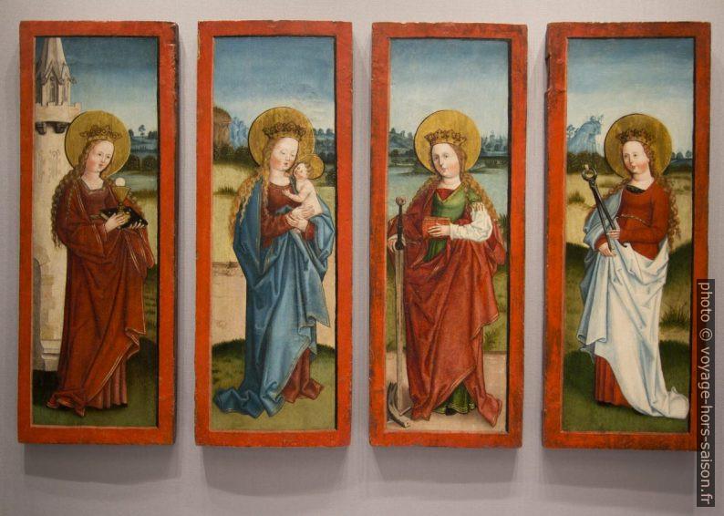 Quatre femmes par Nicolaus Stürhofer de Brixen, fin du 15e siècle. Photo © André M. Winter