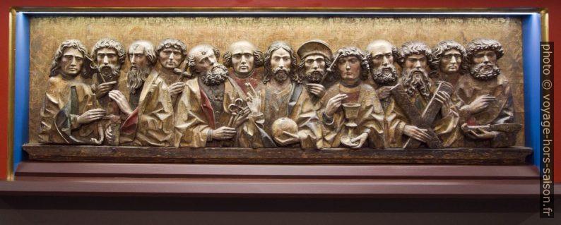 Jésus avec ses douze apôtres, Memmingen vers 1490. Photo © André M. Winter