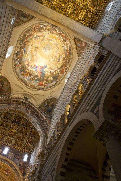 Fresques du dôme de la cathédrale de Pise. Photo © Alex Medwedeff